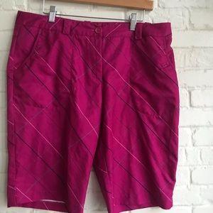 Nike golf dri fit athletic shorts pink sZ 14